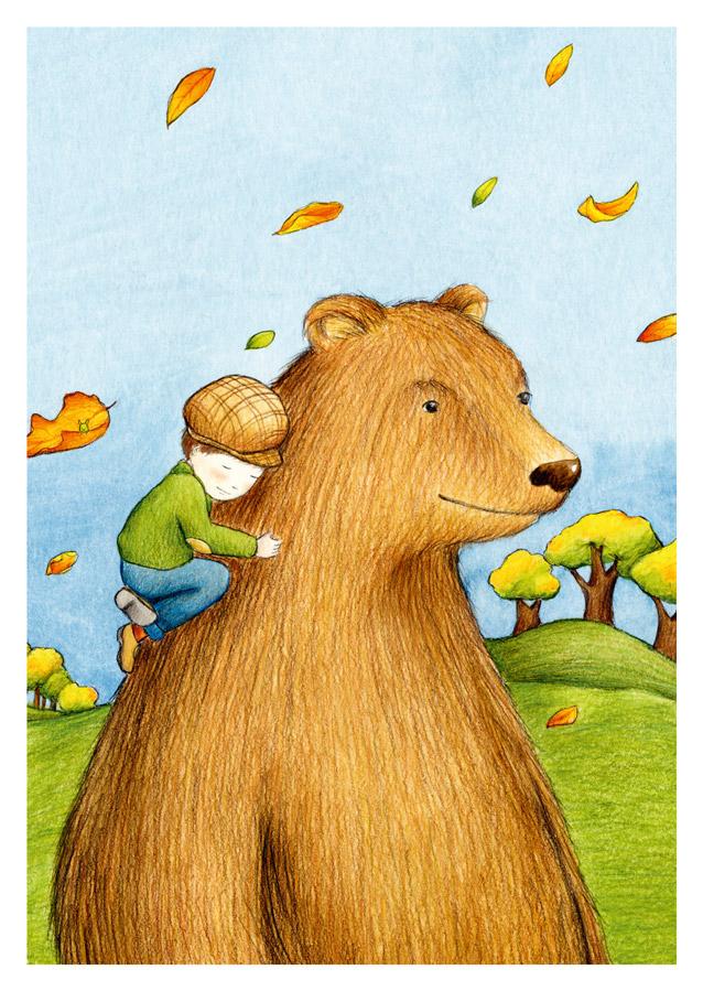 Postkarte Bärenjunge