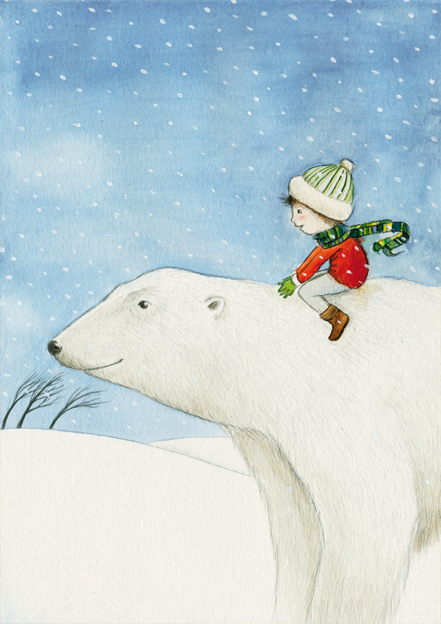 Der Eisbärjunge